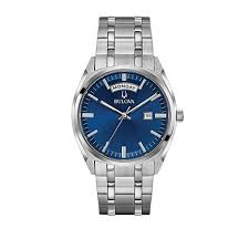 bulova s classic collection stainless steel day and date