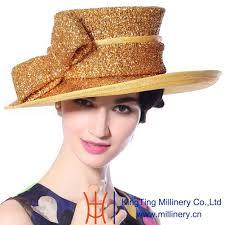 gold wide brim wholesale hat women hat newsboy hat church hat