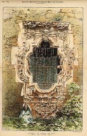 san antonio mission painting window of mission san jose san antonio tx 1890