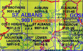 map of st albans st albans 9031 2 n nsw topographic map wholesale
