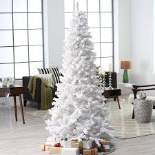 7 5 ft pre lit deluxe white on white flocked tree by