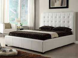 stylish leather elite platform bed with extra storage sterling