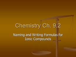naming and writing formulas for ionic compounds ppt video online