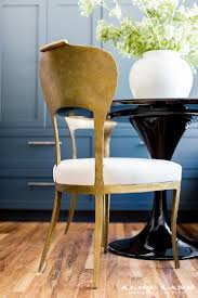 Gold Dining Chairs Gold Leaf Dining Chair With Black Dining Table Transitional