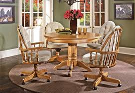 dining table chairs with casters dining chairs on casters on