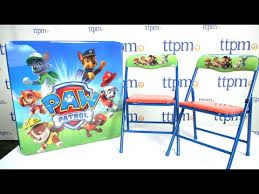 paw patrol kids table set paw patrol table and chair set from kids only youtube