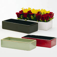 rectangular ceramic bowl floral supply syndicate floral gift