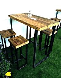 Patio High Chairs Bar Table Outdoor Furniture High Chair Patio Back New Industrial
