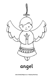 free christmas colouring pages for children