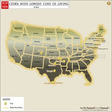 which state has the lowest cost of living top 10 lowest cost of living cities in us