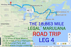 Alabama Time Zone Map by The 18 863 Mile All Legal Marijuana Road Trip