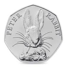 peter rabbit coin 50p bu royal mint