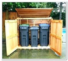 trash can shed trash cans garbage can shed plans free more views