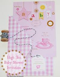 high tea baby shower tea party invitation