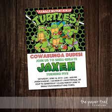 13 best teenage mutent ninja turtles birthday invitation images on