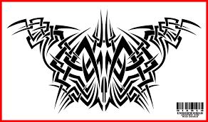 tribal chest tattoo design 2015