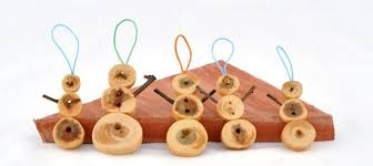 wooden decorations produced from juniper tree decor