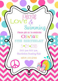 Invatations Swimming Party Invitations Theruntime Com