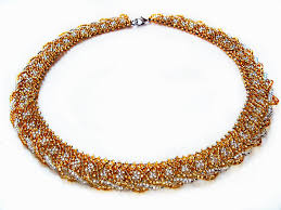 pattern gold necklace images Free pattern for beaded necklace gold beads magic jpg