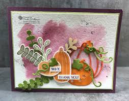 stampin up thanksgiving cards ideas pick a pumpkin patterned pumpkins thinlits touches of nature