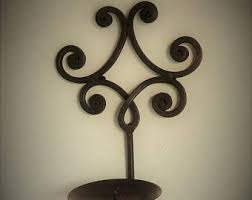 Cast Iron Wall Sconces Iron Candle Sconce Etsy