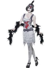 ladies 1920s grey zombie flapper fancy dress costume womens