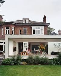modern extensions white rendered modern extension against brick house welcome home