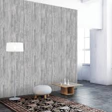 woodgrain textured self adhesive wallpaper in pewter design by