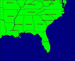 map usa southeast the indians used weapons that they made by this is