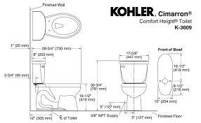 Kohler Comfort Height Round Toilet Kohler Cimarron Toilet K 3609 0 Cimarron Review Toilet Found