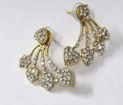 gold kaan earrings golden heart shape kaan earring zipker