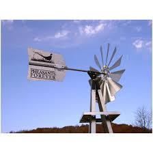 pheasants forever small galvanized backyard windmill steel