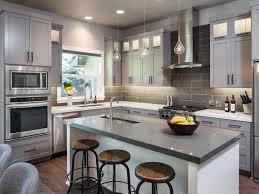 gray kitchen ideas gorgeous gray kitchen hgtv glazed cabinets dining room granite