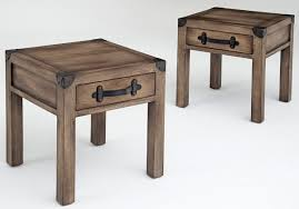distressed wood end table popular wooden end tables with distressed wood end table with drawer