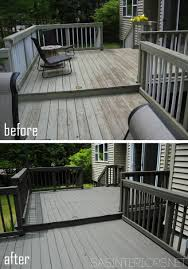 how to stain a wood deck jenna burger