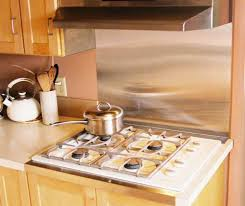 Stunning Art Stainless Steel Range Backsplash Stainless Steel - Stainless steel cooktop backsplash