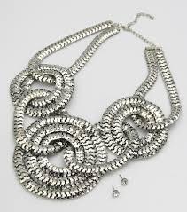 bib necklace metal images Statement metal chain bib necklace set she says so jpg