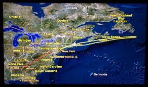 Newfoundland Map That Rectangle Under Newfoundland On The Inflight Map Wanderlusty