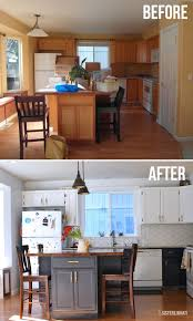 easy kitchen makeover ideas diy kitchen makeover two toned cabinets 500 kitchen makeover