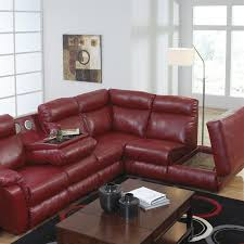 marvelous red leather recliner with chastain 2 piece red leather