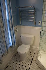 How Tall Should Baseboards Be Bathroom How To Cover Bathroom Tile With Wainscoting