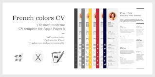 Resume Pro The French Colors Cv Resume U2013 Premium Template For Apple Pages 5