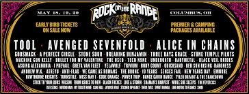 Avenged Sevenfold Flag Rock On The Range 2018 Lineup Announced Going To Be Amazing