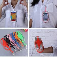 necklace holder case images Lanyard cell phone cases for iphone 6 7 samsung s8 new silicone jpg