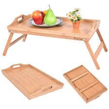 Breakfast In Bed Table by Portable Bamboo Breakfast Bed Tray Serving Laptop Table Folding