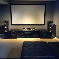 creating a home theater room ohio home theater fan blends klipsch speakers with dual svs pb