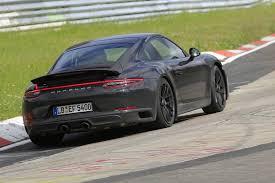 2018 porsche 911 gts with turbocharging latest spy shots gtspirit
