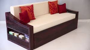 Wooden Sofas Sofa Bed Thar Sofa Bed Mahogany Finish Online Wooden