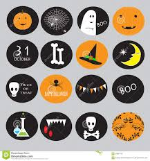 cupcake toppers for halloween stock vector image 59887105