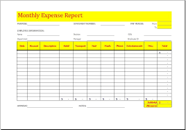 Monthly Expense Report Template Excel Monthly Expense Report Template At Http